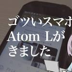 【4インチ】Unihertzのゴツいスマホ Atom Lが届きました。開封時レビュー!