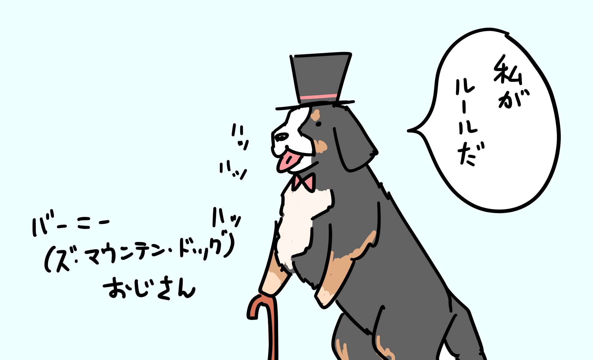バーニーズマウンテンドッグおじさん